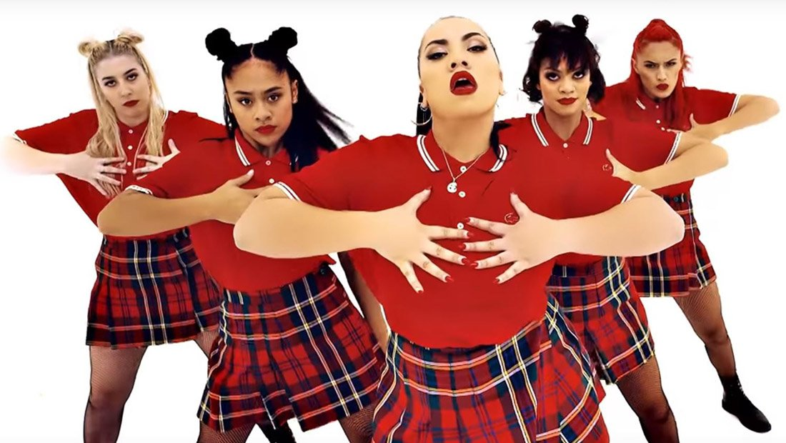 Choreographed and directed by Parris Goebel