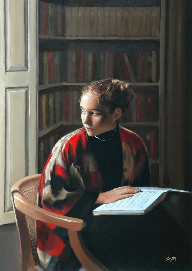 &quot;The Library Window&quot; - Shelley Thayer Layton  #livros #books #art #reading<br>http://pic.twitter.com/z7AGkpJotH