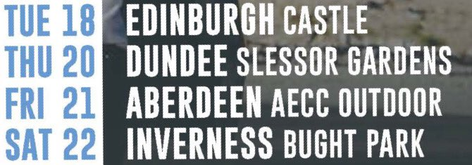 SCOTLAND!! Your next on hit list 😝 Summer Tour is coming up this week 😎✌🏻☀️ https://t.co/rA0oxo6t9n