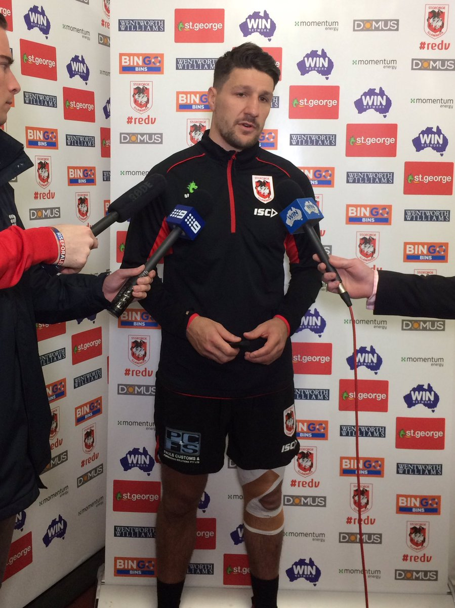 RT @NRL_Dragons: Gareth Widdop speaking to the media ahead of Sunday's clash against Manly #NRLDragonsManly #redv https://t.co/BHUZ9Pugfq