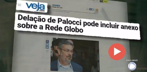 Resultado de imagem para RECORD DECLARA GUERRA À GLOBO COM SUPOSTA DELAÇÃO DE PALOCCI