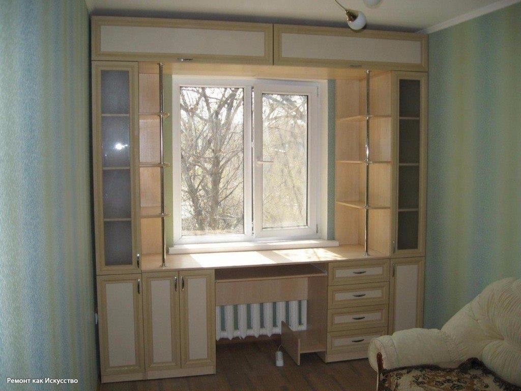 шкафы купе для спален на всю стену фото