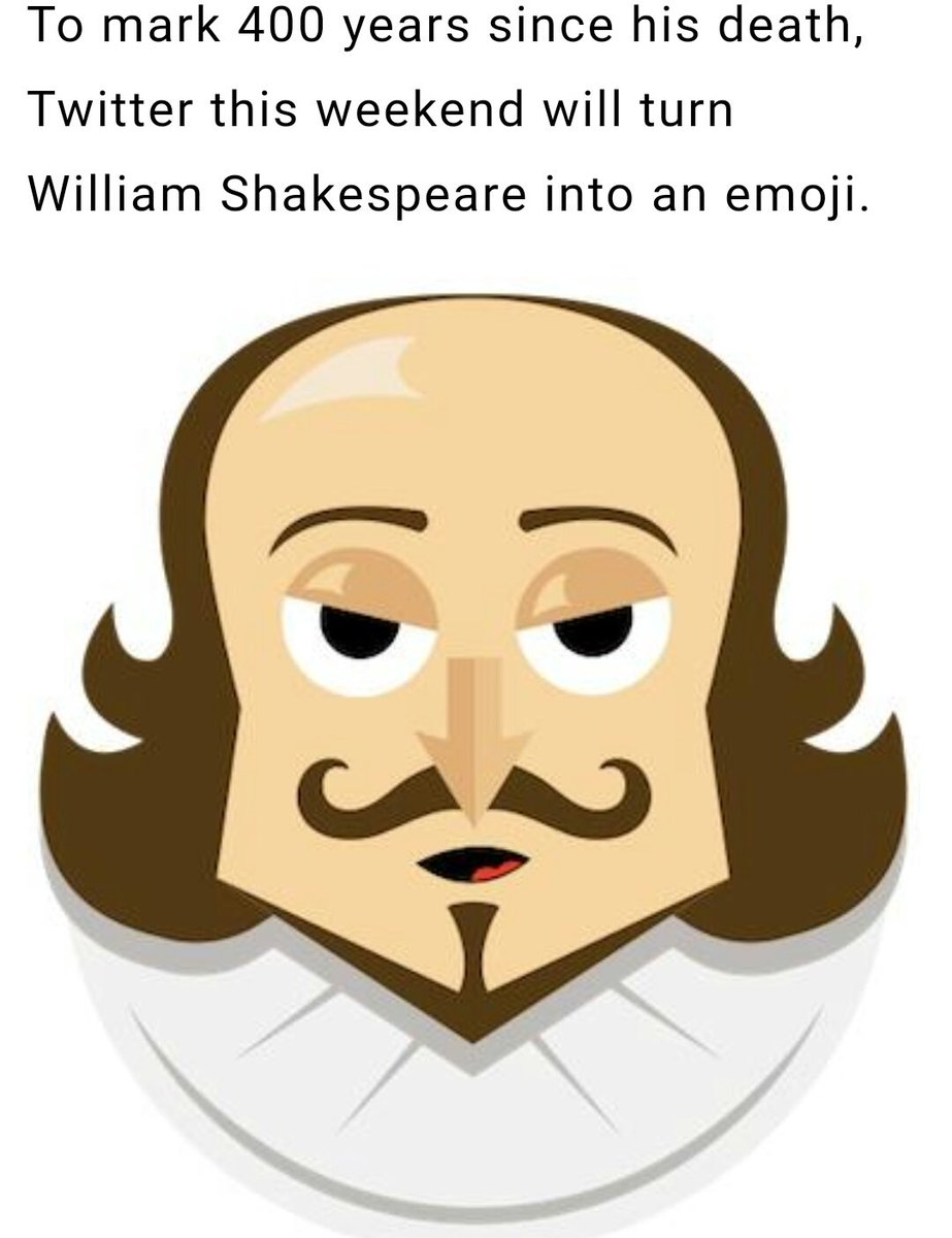 #WorldEmojiDay - we need to bring him back full time @Twitter! #BardEmoji #ShakespeareSunday