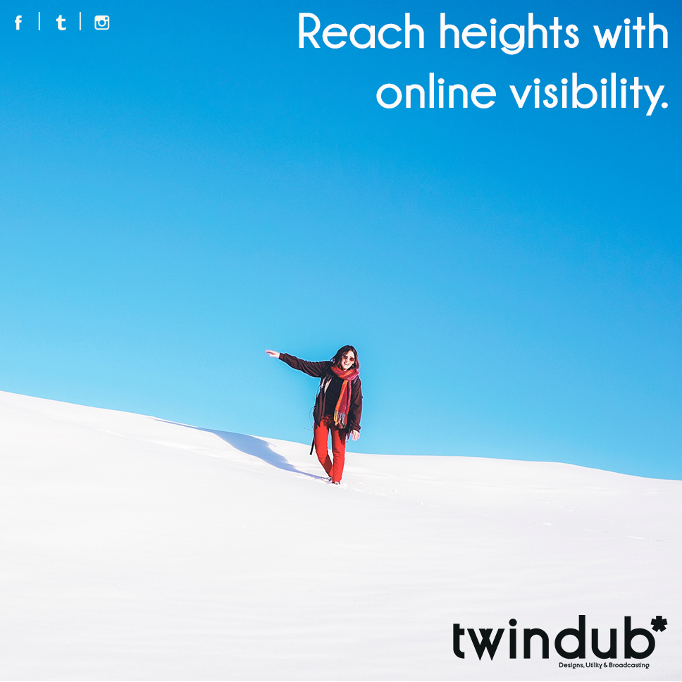 Reach heights with #Online #Visibility  #socialmediabranding #entrepreneur #startup #smallbusiness #businessowner #hyderabad #twindub<br>http://pic.twitter.com/9kgLTHEWPG