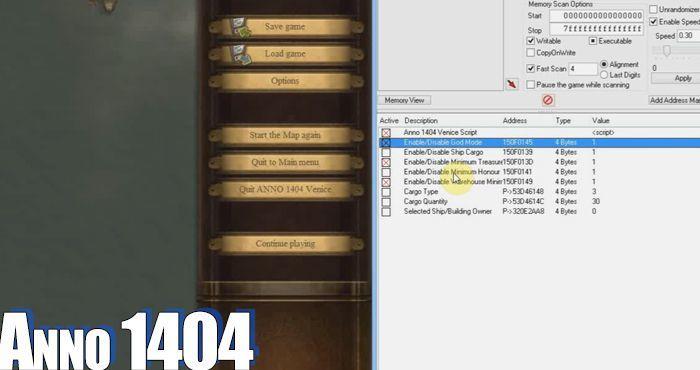 anno 1404 cheats pc code