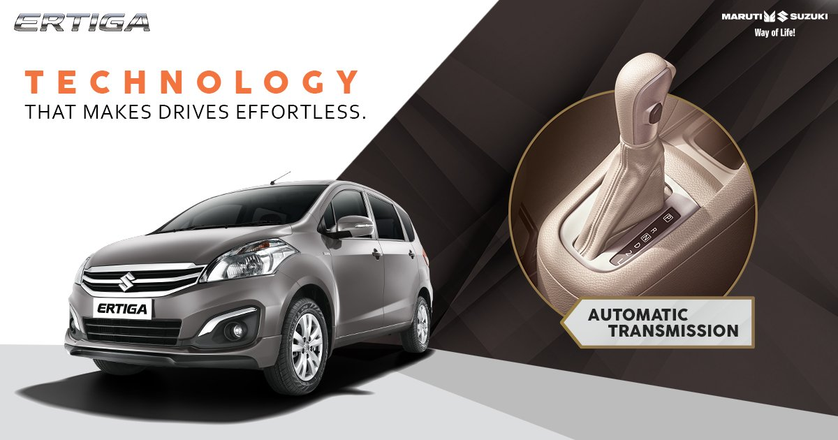 Get ready for smoother road trips with your friends!  Thanks to the Automatic Transmission in Maruti Suzuki Ertiga. #TogetherWithErtiga https://t.co/uABNkbiwlO