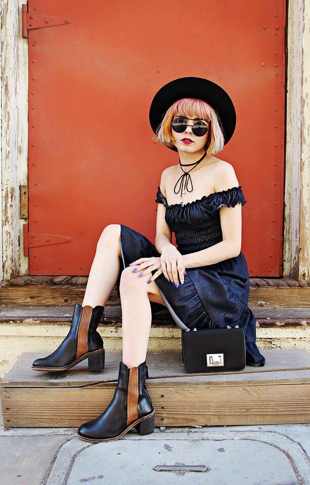 """Ruffled Chambray Dress"" by @stylebaus: https://t.co/63nrr2NnYI #bohemian #grunge #vintage #stylebaus #ootd https://t.co/Wx4bsN17VE"