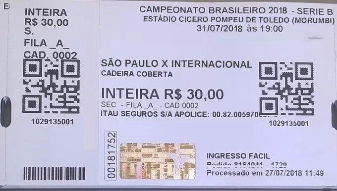 Precavidos, torcedores do São Paulo e do Internacional já estão comprando seus ingressos para o Brasileirão de 2018!