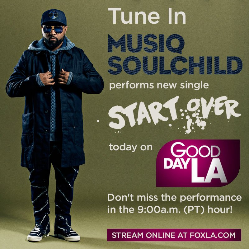 Tune in today and watch me perform my new single 'Start Over' on @GDLA