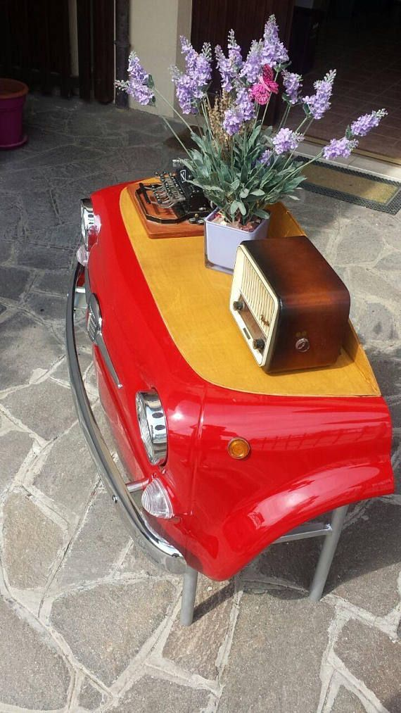 Classic Fiat 500 Bespoke Desks Buy from Etsy here -  http:// bit.ly/2tu3Y6E  &nbsp;   #fiat500 #abarth #bespoke #handmade #carparts #upcycled #mancave<br>http://pic.twitter.com/WdxdM1F48f