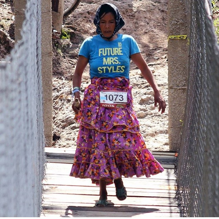 RT @ladyhaja: Can we talk about this fucking legend who just ran 100km in the Tarahumara mountains? https://t.co/2dmU241wlG