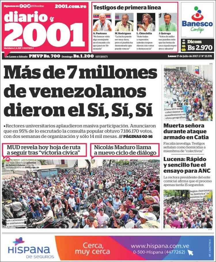 #PrimeraPagina @2001OnLine Más de 7 mill...