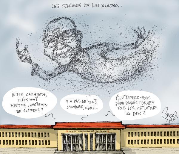 Le coup de crayon du 17 juillet #LuXiaobo #Chine #Nobel https://t.co/dtnOVAM8ms