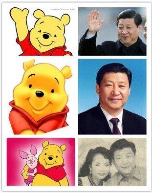 Winnie l'ourson censuré en Chine à cause de sa ressemblance avec le président Xi Jinping https://t.co/s6AFnLu2gs