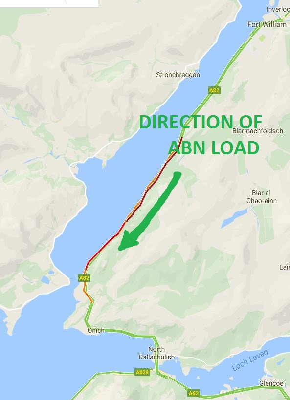 Road Map Of England And Scotland.Traffic Scotland On Twitter Google Map Image Of The A82