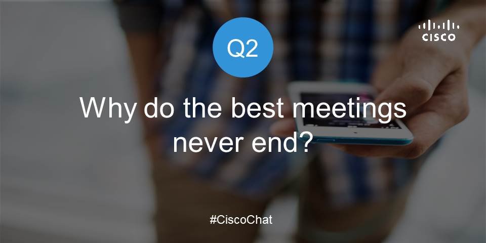 "Great insights, everyone! Here's Q2. Respond with ""A2"" to share your thoughts #ciscochat https://t.co/YJaxPQZBGY"