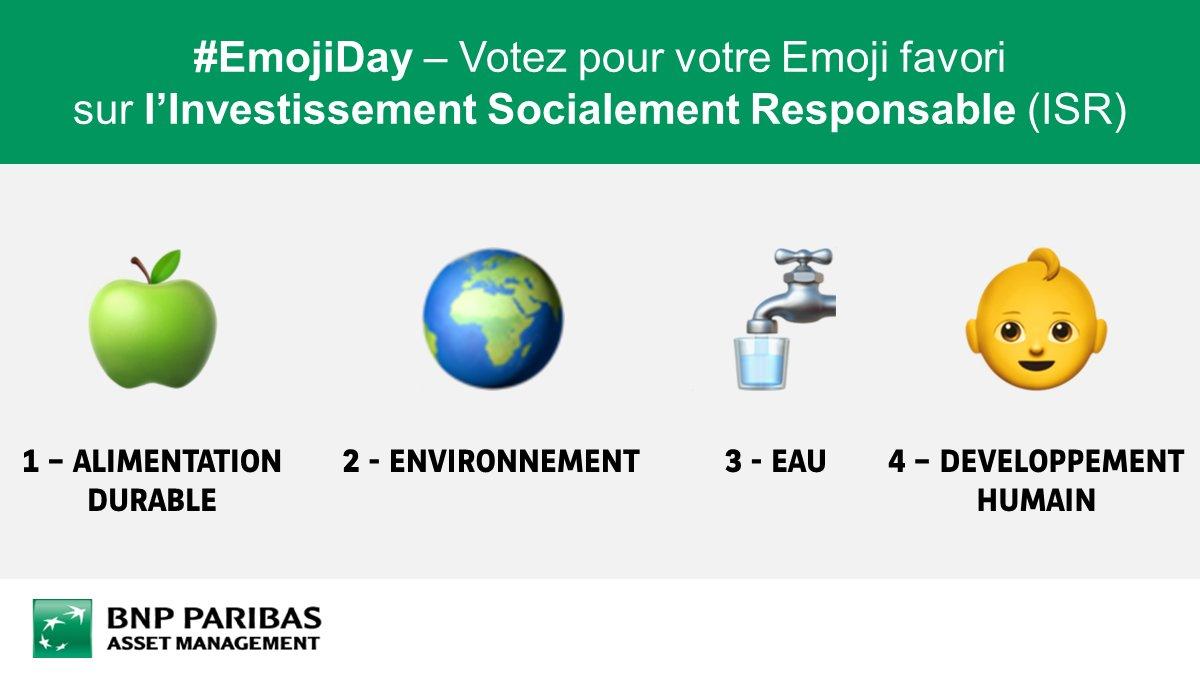 #WorldEmojiDay Quel Emoji préférez-vous sur l'#ISR? #DeveloppementDurable #Finance