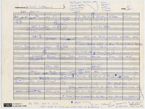 "John Coltrane's Handwritten Outline for His Masterpiece 'A Love Supreme."" He died 50 years ago today https://t.co/Wtrh4s4xXz"