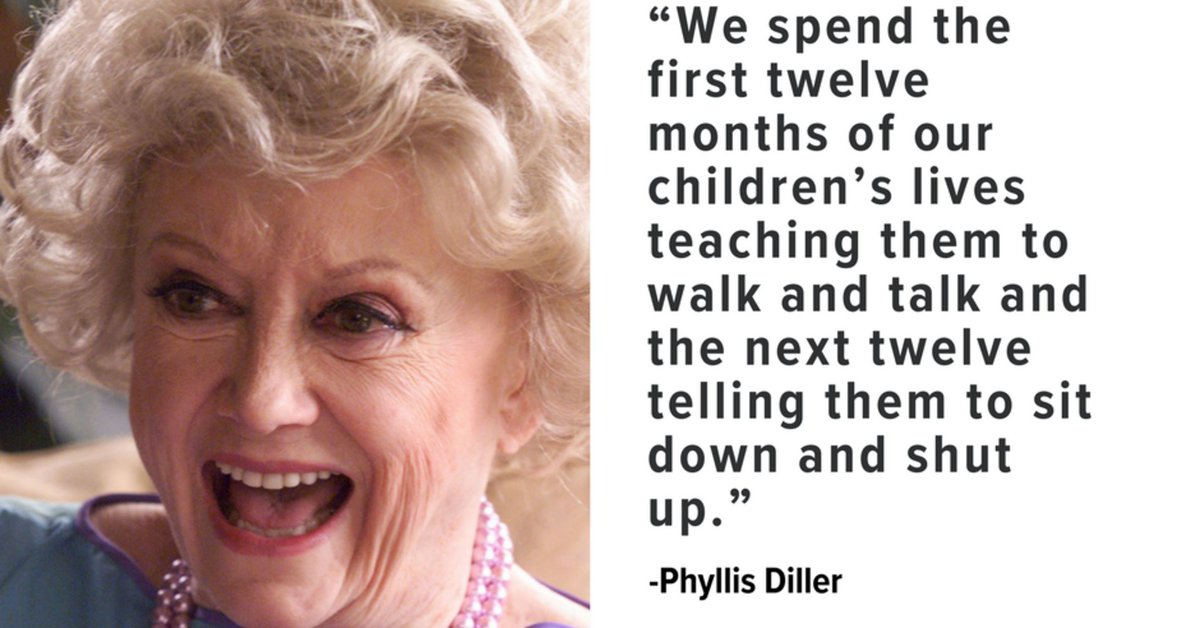 Phyllis Diller was the master of parenting one-liners https://t.co/CarRyqBpoH