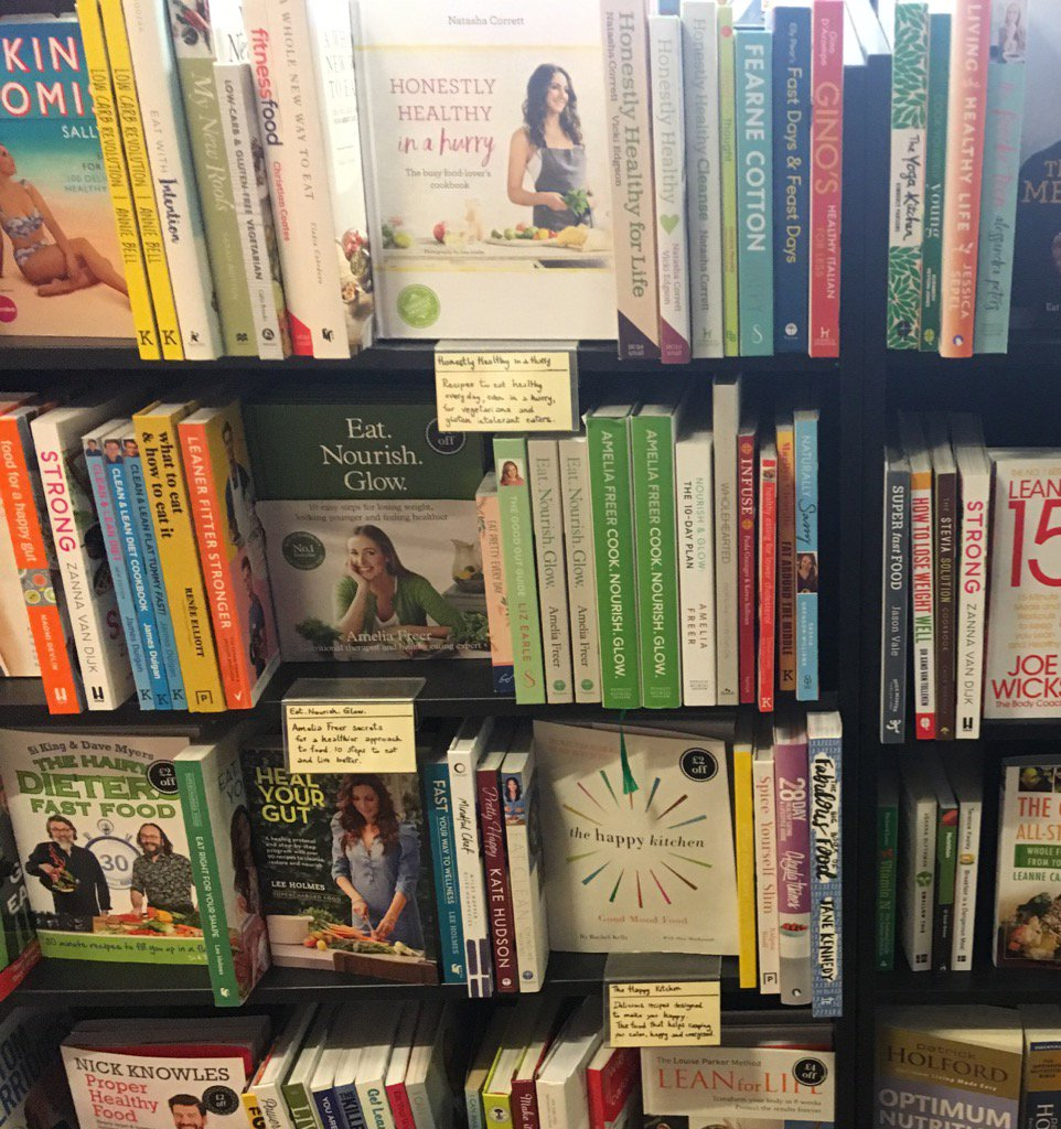 A whole shelf of 'clean eating' books at Waterstones. So many dubious promises, so much coconut oil! https://t.co/wcMuitmvrE