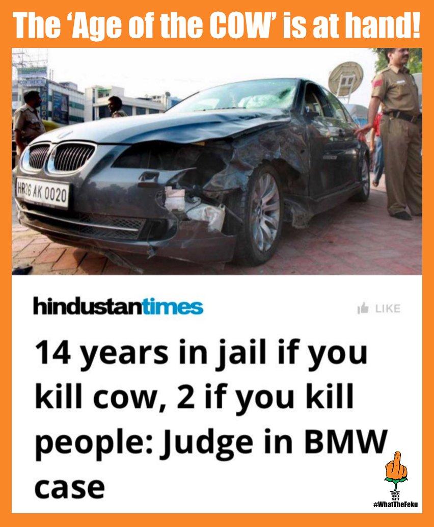 Them #Bhakts be KraAzy... So a cow's life is worth 7 times human life!? #WhatTheFeku<br>http://pic.twitter.com/Pkfjj20O4Q