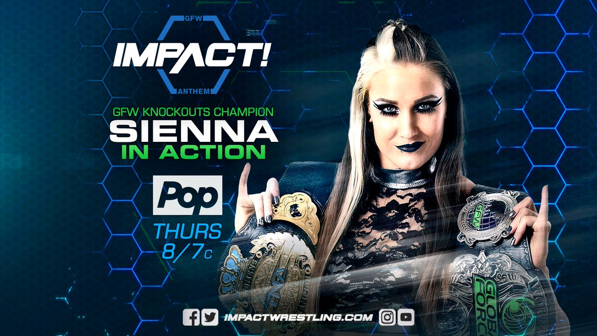Happy #WorldEmojiDay and on Thursday it&#39;ll be #PinkiesUp as @Sienna  competes on #IMPACT<br>http://pic.twitter.com/299of0WBOp