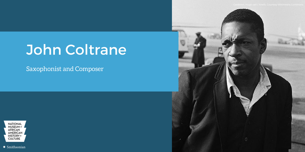 John Coltrane was a @PulitzerPrize winning saxophonist, who pioneered new styles of jazz. #APeoplesGroove