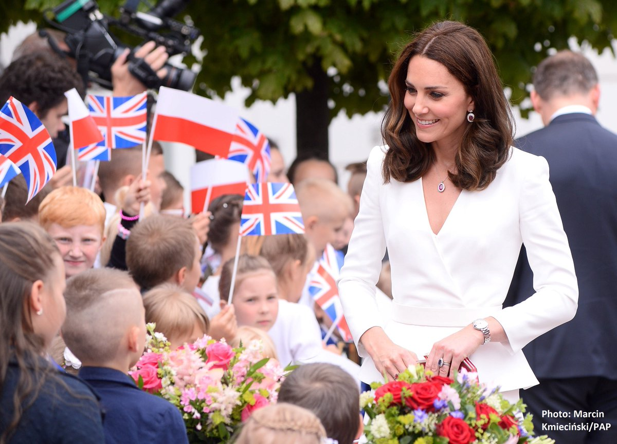 🇬🇧🇵🇱The Duchess of Cambridge in #Warsaw....