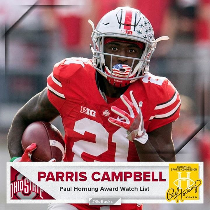 Ohio State -  14 OH WR (SR) - Parris Campbell Jr.  2548d8874