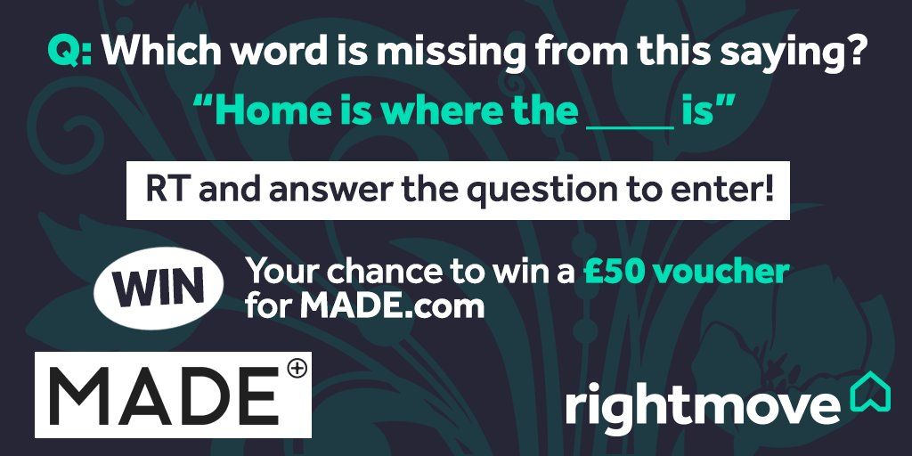 WIN: We're giving away two £50 vouchers with @madedotcom - just answer the question below and RT to enter! >> https://t.co/f20CFMIkt3