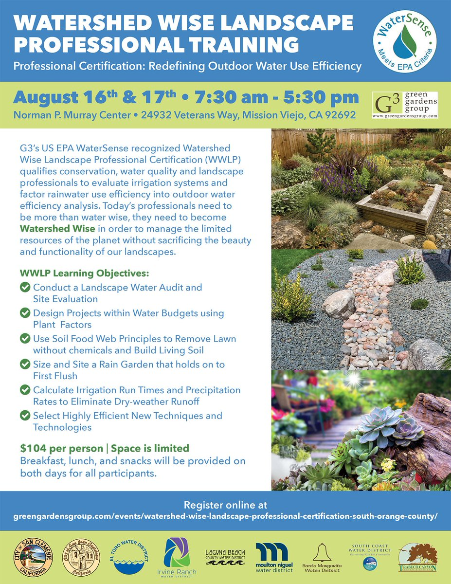 Improve your landscape skills with this Watershed Wise Landscape Profe...