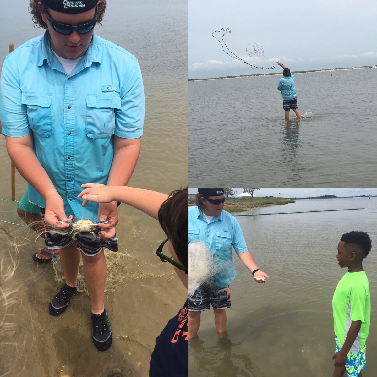 So excited to have local #expert &amp; #marinebiology major from @CCUChanticleers helping  Ss discover new creatures!  #IWCSstem<br>http://pic.twitter.com/OMJKA8q0Lt