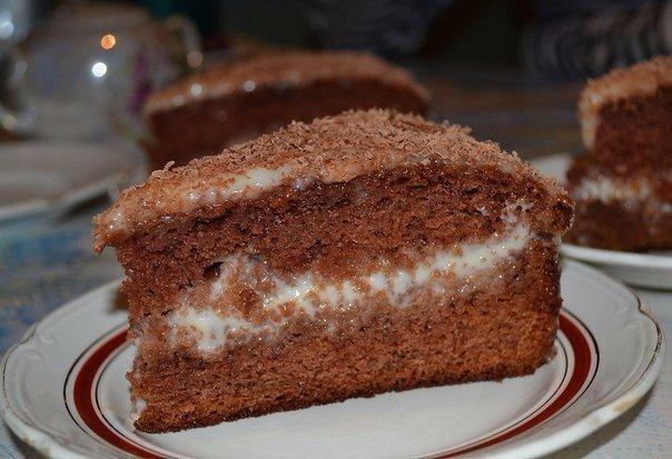 Торт сметанный с фруктами рецепт