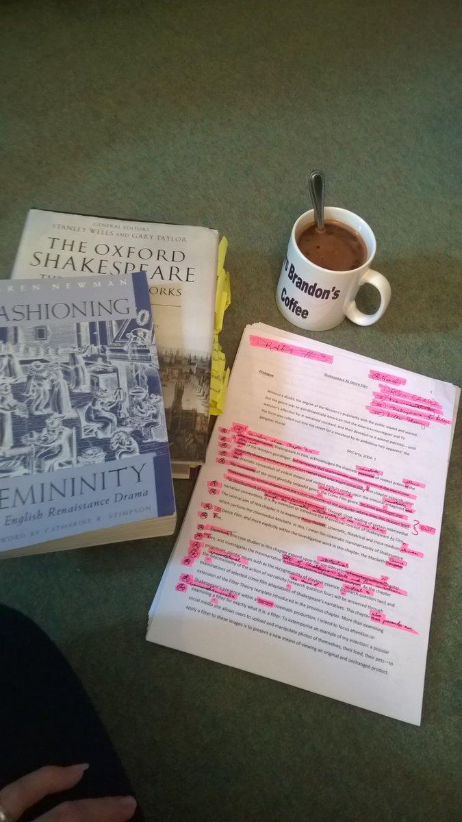 Once more unto the breach, ya putzes... Last major edit before tweaking! #phdchat #thesislife #mochaisbae #Shakespeare #genre #ch3<br>http://pic.twitter.com/ix5R6JwKOW