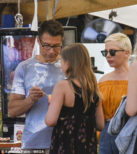 Michelle Williams and her reported boyfriend were then joined by William's daughter, Matilda, in Rome, Italy