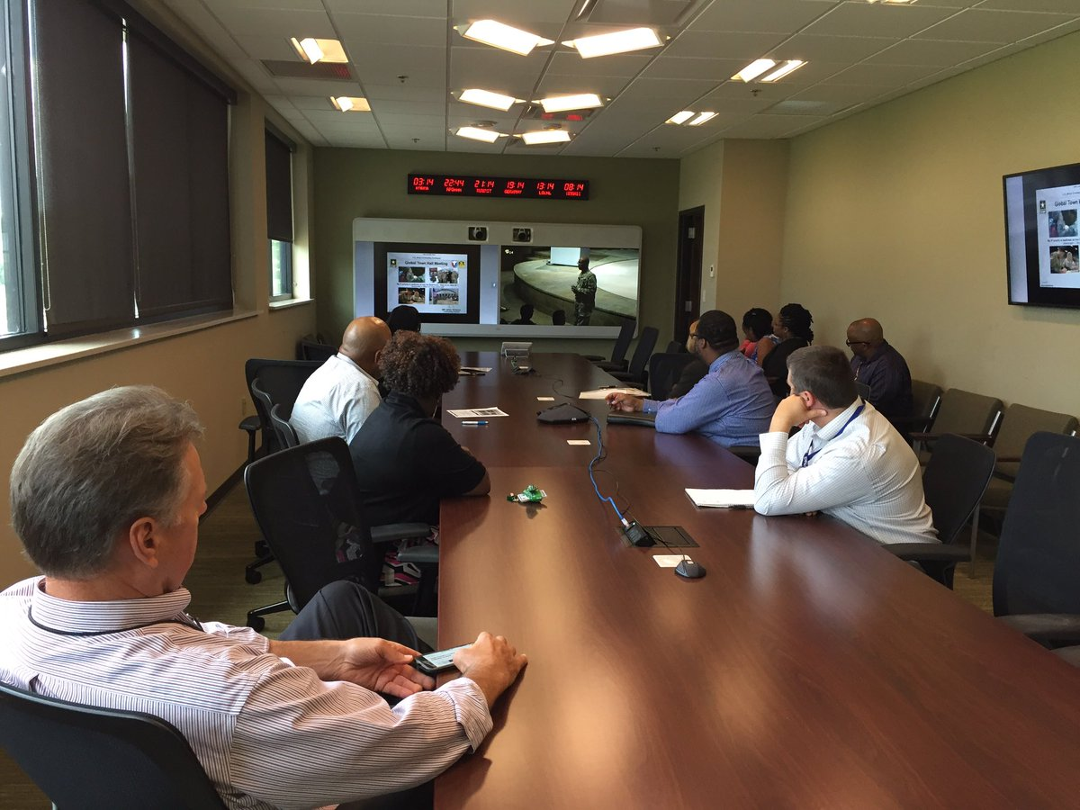 """Army Contracting on Twitter: """"ACC headquarters employees listen to VTC as  MG Simpson delivers Global Town Hall at ACC-Warren… """""""