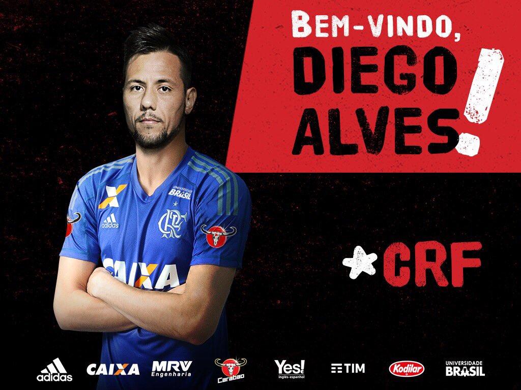 Confirmado e assinado! Diego Alves é o novo goleiro rubro-negro! Bem-vindo! #DiegoAlvesNoMengão