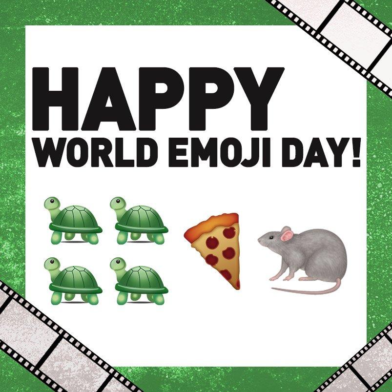 Watch your favorite 🐢🐢🐢🐢save the world tonight on @iTunesMovies! #WorldEmojiDay apple.co/2vuq8Hr