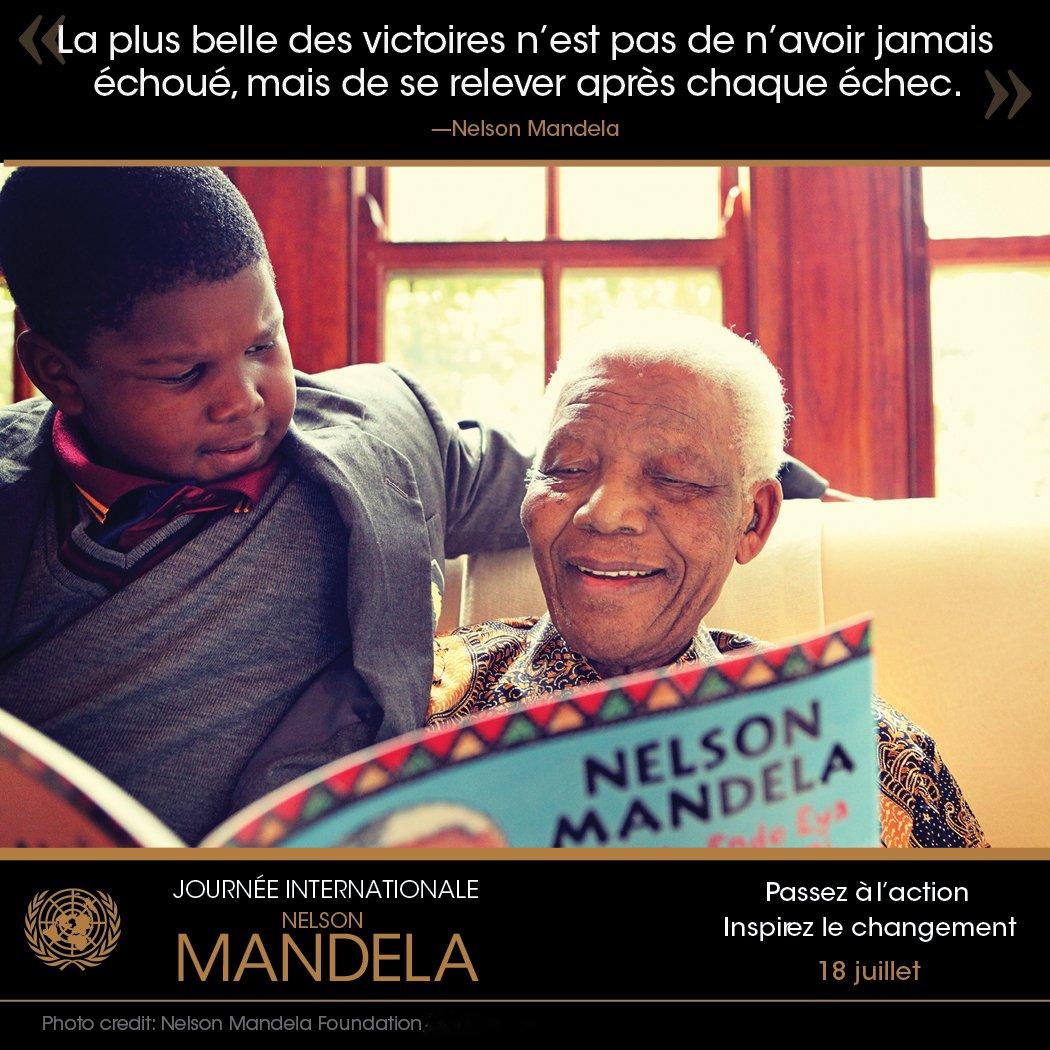 Pendant 67 ans, il a mis sa vie au service de l'humanité. Aujourd'hui, nous célébrons #MandelaDay https://t.co/ue0keiqSgD