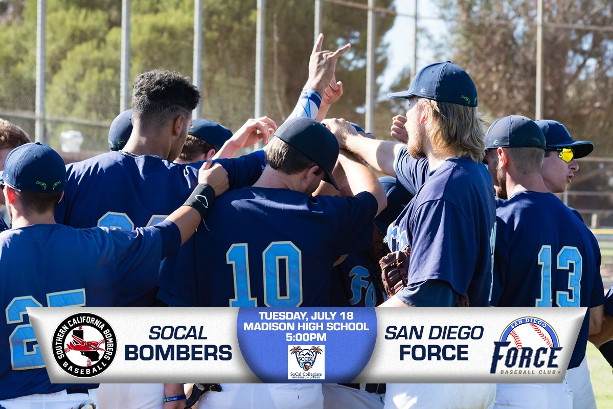 The #Force begin the quest for a 3rd straight @SCCBL league title tomorrow vs the @socal_bombers at Madison HS at 5pm. #UsetheForce<br>http://pic.twitter.com/nSKuHut4Ae
