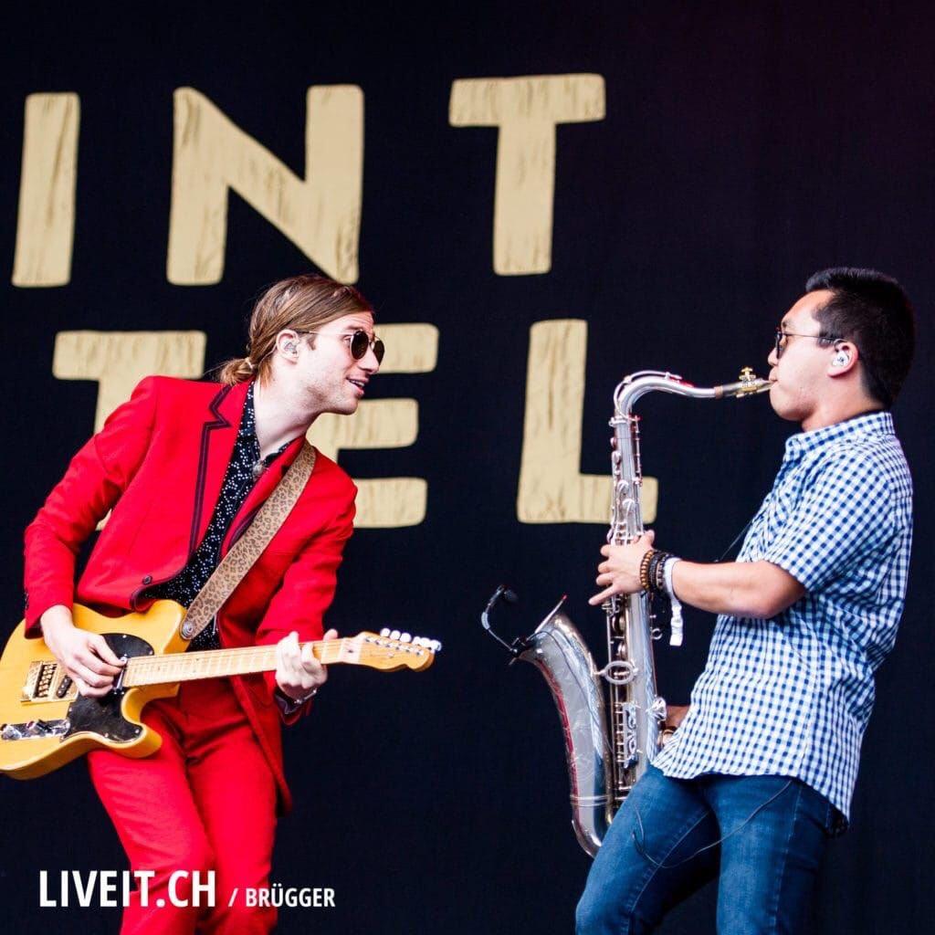 One more from Gurten Fest in Switzerland!  @SaintMotel #saintmotel #sax #saxophone #saxophones #saxplayer #tenorsax #altosax #woodwind <br>http://pic.twitter.com/Ll0iNZka5l