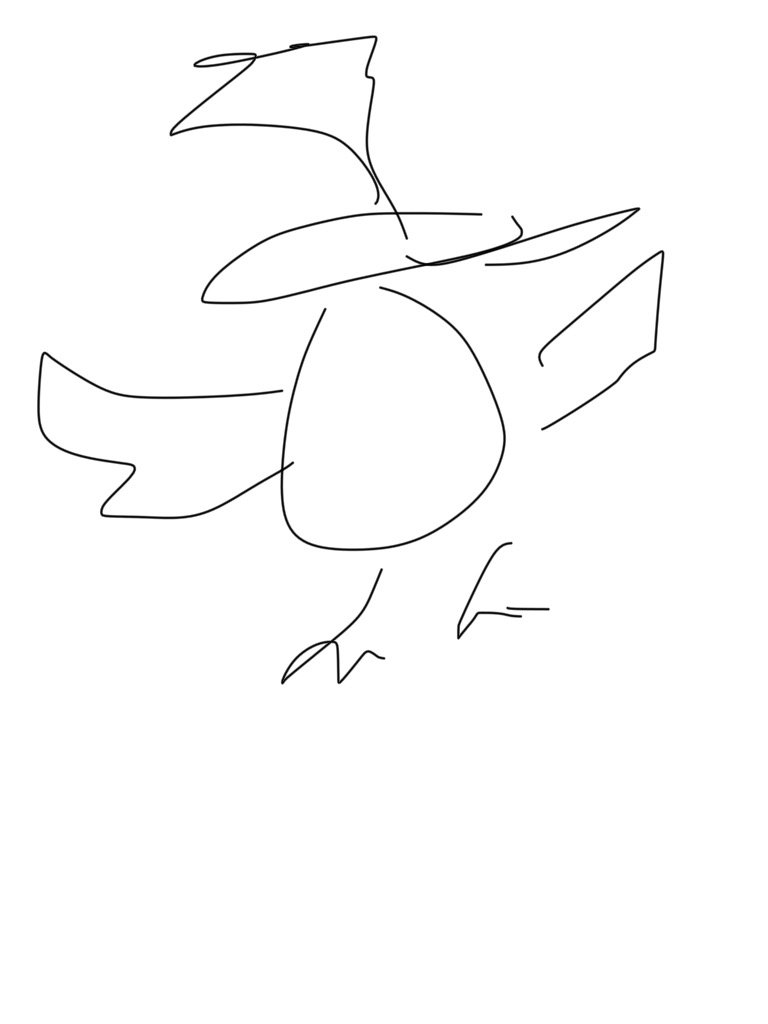 Drawing a Phoenix. Quite hard on an iPhone! @hamishcurry #slanza17 https://t.co/lyCJcKQG05