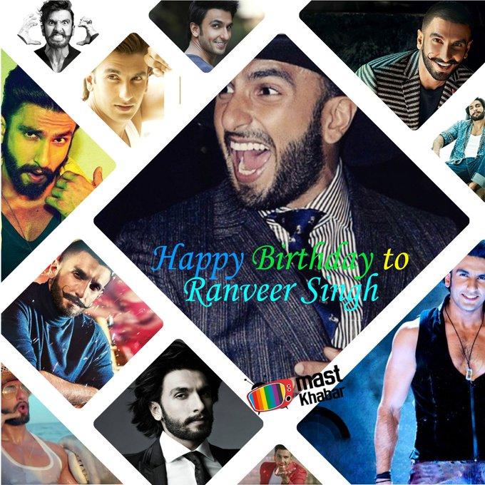 MoSt Versatile , Energetic And Charming Actor Of Bollywood  HAPPY BIRTHDAY RANVEER SINGH