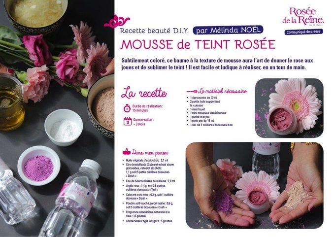[BEAUTE] Recette : La Mousse de teint Rosée #diy