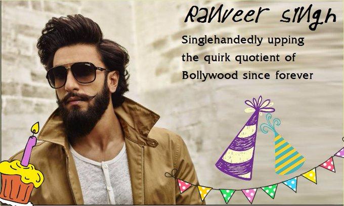 More fun to you Happy Birthday Ranveer Singh