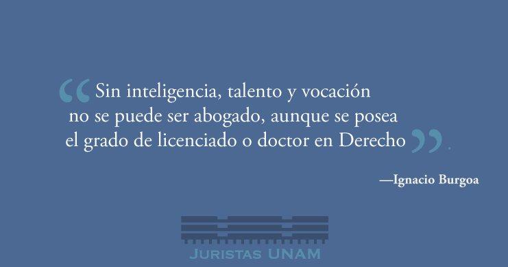 ο χρήστης Juristas Unam στο Twitter La Vocación Del