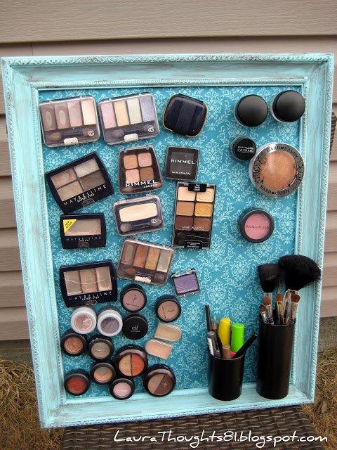 ¡Wow! Entérate de esta útil manera de ordenar tu maquillaje