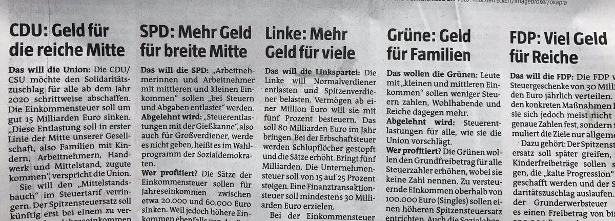 Marco Bülow On Twitter Gute Zusammenfassung Der Steuerpläne Der