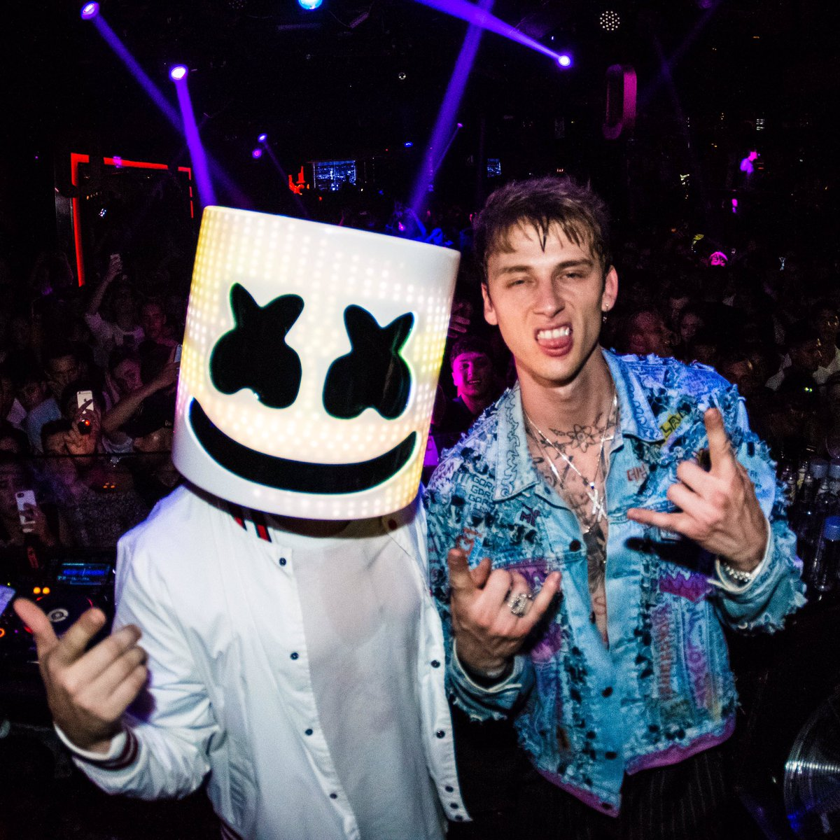 marshmello on twitter mello x mgk machinegunkelly