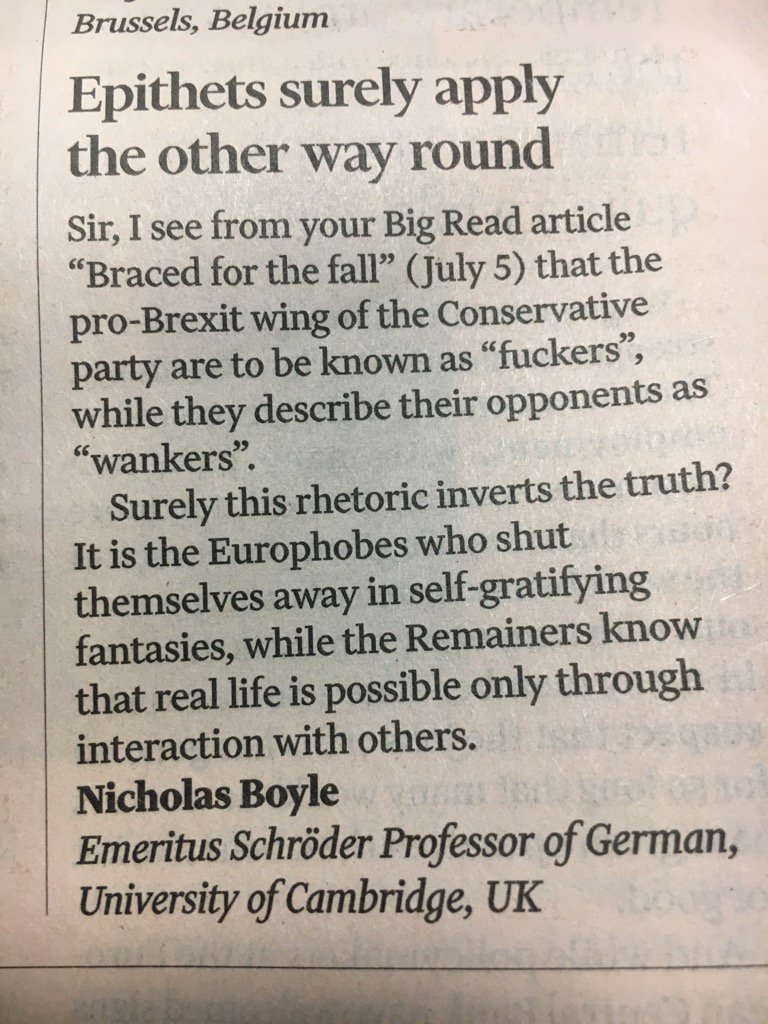 Letter of the decade on Brexit, only in @FT